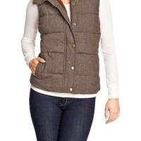 Women's Quilted Tweed Vests