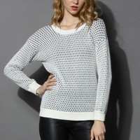 Unchained Emboss Knit Angora Sweater