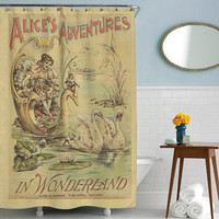Alice in Wonderland, Shower Curtain, Printed in USA
