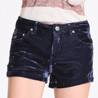 Indigo Velvet Shorts by Free People - $43.99 : ThreadSence.com, Your Spot For Indie Clothing & Indie Urban Culture
