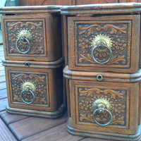 A Pair of Vintage Sewing Machine Drawers with Holders
