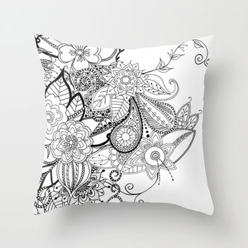 #1 Throw Pillow by ALLY COXON