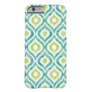 Teal Yellow Ikat Tribal pattern iPhone 6