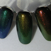 Phoenix Dragon Unicorn Duochrome Color Shifting Top Coat Trio Custom Nail Polish 15mL each