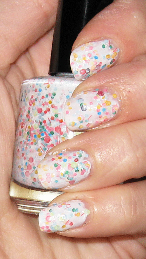 Summer Sorbet Polish Full size glitter Custom Franken