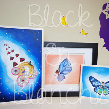 Fairy Canvas Painting Set of 3 - 5x7 Prints