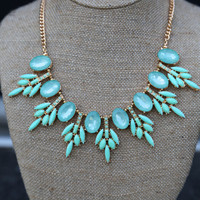 Crystallized Necklace {Mint}
