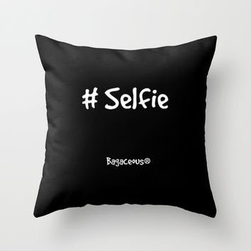 Selfie Throw Pillow by Louisa Catharine Forsyth