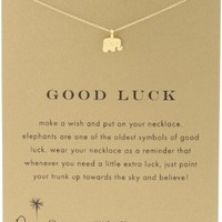 "Dogeared Reminder ""Good Luck"" Gold-Plated Sterling Silver Elephant Pendant Necklace, 16"":Amazon:Jewelry"