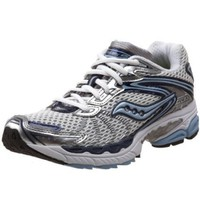 Saucony Women`s ProGrid Ride 3 Running Shoe,White/Navy/Light Blue,11.5 N US