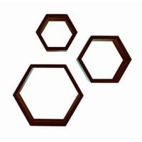 Nexxt by Linea AD3J Aidan Hexagon Shelves (Set of 3)