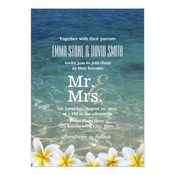 Plumeria Flowers Beach Destination Wedding