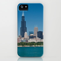 Chicago Skyline Panorama iPhone & iPod Case by Keith Dotson