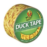 Duck Brand 283040 Mac'n Cheese Printed Duct Tape, 1.88 Inches x 10 Yards, Single Roll