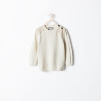 Sweater with shoulder detail