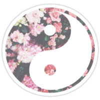 Floral Ying and Yang