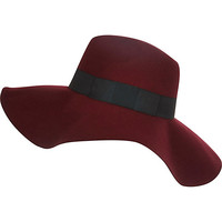 Dark red oversized fedora hat - hats - accessories - women