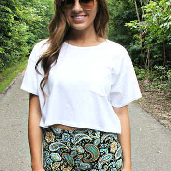 The Essential Crop Top - White