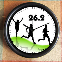 26.2 Marathon running track Clock 10 inch Resin Wall Clock Under 25.00