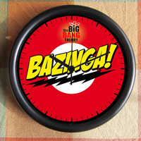 BIG BANG Theory Sheldon BAZINGA Geek 10 inch Resin Wall Clock Movies Tv Under 25.00 Geekery