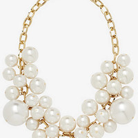 LARGE FAUX PEARL BAUBLE NECKLACE from EXPRESS