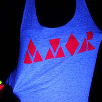 AMOR - Neon Screenprint Tank and Tshirt American Apparel