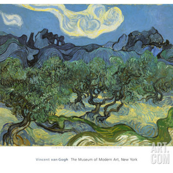 Landscape with Olive Trees Art Print by Vincent van Gogh at Art.com