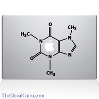 The Molecular Structure of Coffee Macbook Decal