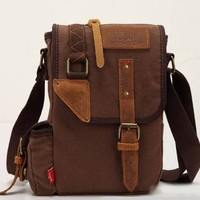 Casual Brown Canvas Shoulder Handbag - Purses & Handbags | RebelsMarket