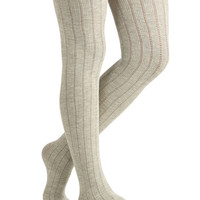 ModCloth Boho Candy Cottages Tights in Mist