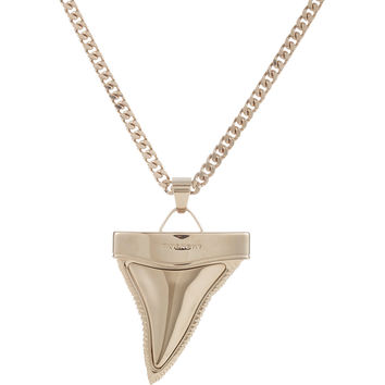 Oversize Shark Tooth Pendant Necklace