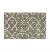 Scroll Tile Rug - Gray