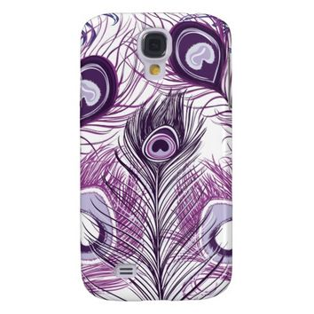 Elegant Pretty Purple Peacock Feathers Design