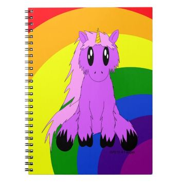 Cute Scruffy Unicorn Notebook