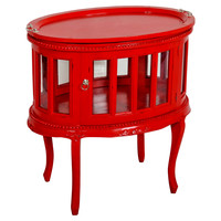 Tabitha Side Table, Red, Standard Side Tables