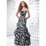 A-line Strapless Floor Length Satin with Ruffles Evening Dress [TWL120201007] - $140.99 :