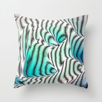 Coral Reef Throw Pillow by Alice Gosling | Society6