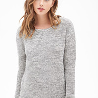Chunky Marled Knit Sweater