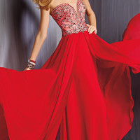 Strapless Sweetheart Floor Length Dress by Alyce