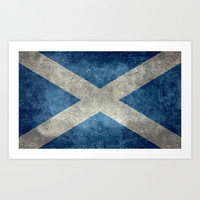 National flag of Scotland - Vintage version Art Print by LonestarDesigns2020 - Flags Designs +