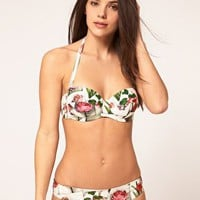 Ted Baker Peony Print Underwired Bikini  at asos.com