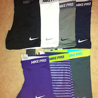 """Nike Pro 5"""" Inch Core Compression Spandex Shorts Dri-FIT Running Training Tights"""