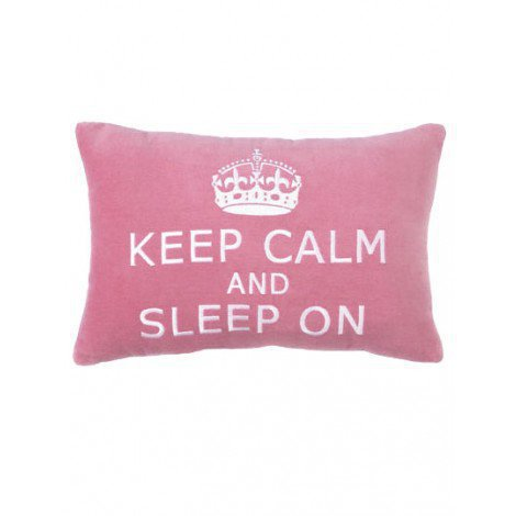 Keep Calm and Sleep On Pillow
