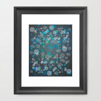 In the Midst of Movement & Chaos (Geometric Galaxy) Framed Art Print by soaring anchor designs ⚓ | Society6