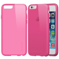 iPhone 6 Case - LUVVITT FROST iPhone Air Case / 4.7 inch Screen   Soft Slim Transparent TPU Case / Cover (Does NOT fit iPhone 5 5S 5C 4 4s or iPhone 6L 5.5 inch screen) - Transparent Pink:Amazon:Cell Phones & Accessories