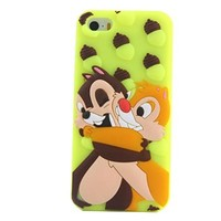 JBG Cute Lovely Cartoon Shadow Soft Silicone Rubber Back Case Cover Skin / For iPhone 5 5S Chip 'n Dale
