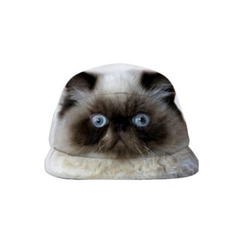 Funny Persian Cat Baseball Hat created by ErikaKaisersot | Print All Over Me