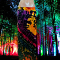 Electric Festival Tie Dyed Maxi Skirt  (Pattern Two)