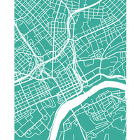 Knoxville Map Print - Tennessee Poster Art
