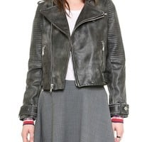 Marc by Marc Jacobs Biker Leather Jacket